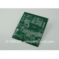 Double Sided 3oz Blank Copper Pcb Board Immersion Silver Plating Green Solder Mask
