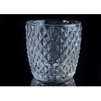 Diamond Shape decorative candle holders Embossed glass tealight candle holders