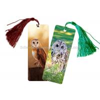 Quality Eco - Friendly Kids 3D Lenticular Custom Plastic Bookmarks With 0.6mm PET For Gift / Premium for sale