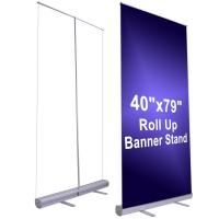 Quality 150cm Width Large Stand Up Banner Roll Up Advertising Banners for sale