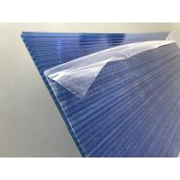 Quality Blue Polycarbonate Roofing Sheets Lexan / Makrolon Raw Material 6mm Thickness for sale