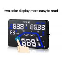 Quality Two Color gps heads up display Cruise control speed bluetooth hud for sale