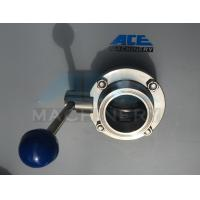 Quality Stainless Steel Sanitary Butterfly Valve with Weld/Nut End (ACE-DF-2D) for sale