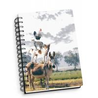 Quality Depth Effect A4 A5 A6 3D Lenticular Notebook For Student Stationery Eco-friendly for sale