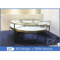 Buy cheap Round SS Glass Jewelry Display Cases With Locks / Retail Glass Display Cabinets from wholesalers