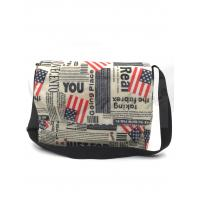 Quality 420D Polyester Travel Messenger Bag Pouch With Printing / Embroidery Logo for sale