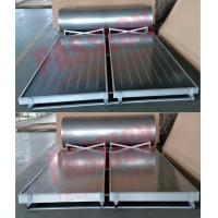 Quality 304 Stainless Steel Pressurized Solar Water Heater With Blue Flat Solar Collector for sale