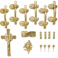 Quality Casket Handle Coffin Fitting S9004 , Coffin Lid Screw And Casket Cross for sale