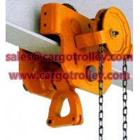 Quality Geared trolley durable with simple structure for sale