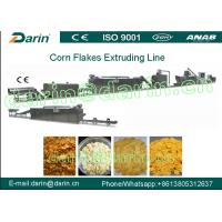 Quality Double Screw Extruder Corn Flakes Making Machine Easy Operation for sale