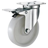 Quality Plate Brakes Industrial Shelving Casters , Small Nylon Metro Rack Wheels for sale