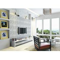 Quality 3D PVC Geometric Printing Wallpaper TV Background Contemporary Wall Covering for sale