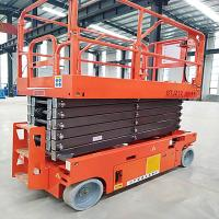 Buy cheap Lightweight Movable Scissor Lift 11.8m Elevated Work Platform 230kg Loading from wholesalers