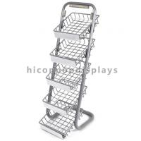 Quality 5 Layer Metal Tray Retail Flooring Display Stand Wire Snack Candy Bar Display Stand for sale