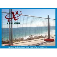 Quality 6ft*10ft Galvanized Temporary Fencing Panels For Home Garden Easy Assemble for sale