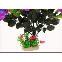 Buy OEM Beautiful Cheered Rose Plastic Artificial Plants Fish Tank Landscaping at wholesale prices
