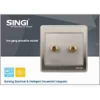 Quality Champagne gold stoving narnish technology wall plate: Keystone Jack - 3.5mm two way Stereo Audio Block Connector for sale