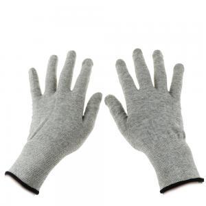 Quality Grey Carbon Fibre 40D Silver Conductive  Gloves for sale
