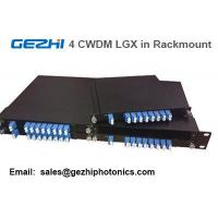 "Quality Passive CWDM Mux Demux 8CH Module by 4pcs LGX Box in one 19"" 1U Rackmount for sale"