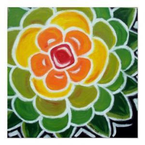 Quality art painting sun flower art print 60x60cm for sale