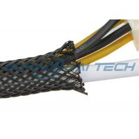 Quality Fire Resistant PET Expandable Braided Sleeving For Cable Hose Protection for sale