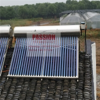 Quality 300L 304 Stainless Steel Compact Non Pressurized Vacuum Tube Solar Water Heater For Shower Kitchen for sale