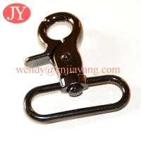 Quality jiayang metal gun color trigger snap hook for leather handbags for sale