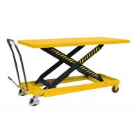 Quality Single Person Small Manual Hydraulic Lift 1600mm * 800mm Portable Hydraulic Table Cart for sale