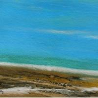 Quality landscape painting without frame tree lake for sale