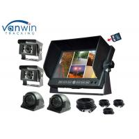 Quality 4 Channel TFT Car Monitor DVR 7 inch with 4 Cameras / Recording function for Truck for sale