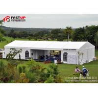 Quality Durable Heated Party Tents , Luxury Outside White Marquee Tent Aluminum Frame for sale