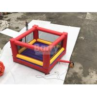 Quality Ultimate Red And Yellow Kids / Adults Inflatable Sports Games Giant Bouncy Boxing With Gloves for sale