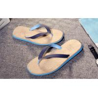 Quality Wood Grain Fashion Flip Flops Slip Resistance Mens Thong Slippers Multi Colored for sale