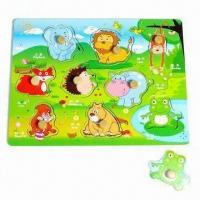 Quality Zoo Puzzle, Made of Wooden Plywood for sale