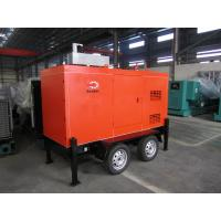 Quality Mobile Trailer Mounted Generator 40KW / 50KVA With Silent Canopy And Fuel Tank for sale