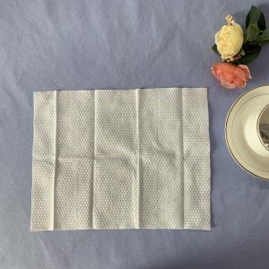 Quality Embossed 100GSM 100% Viscose Single Use Wet Wipes for sale