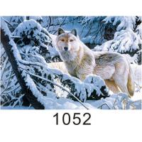 Quality 0.6mm Thickness 3D Lenticular Images  ,  Advertising Poster 3D Wolf Picture for sale