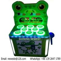 Quality Hamster Frog Jump Iron Cabinet Hammer Hit Frog Coin Operated Game Machine For Kids In Shopping Mall for sale