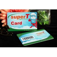 Quality Standard size plastic card with barcode bussniess card for sale