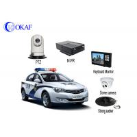 China 4G Police Car IR Auto Tracking PTZ Camera / Security Camera With Powerful Magnet Mount on sale