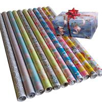 Quality 30inch x 120inch gift wrapping paper 80gsm coated paper custom wrapping paper for sale