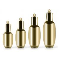 Quality 30ml Gold Acrylic Pump Bottle Colorful Acrylic Liquid Pump Dispenser For Lotion Cream for sale