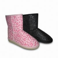 Quality Snow Boots, Suitable for Women, with Microfiber Upper and Fleece Lining for sale