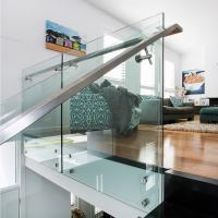 Quality 304 Stainless Steel Standoff Tempered Glass Balcony Railing Design for sale