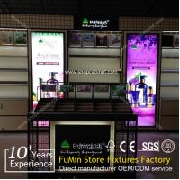 Quality cosmetics store kiosk fixture display show case for sale