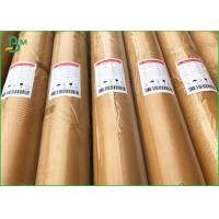 Quality No Toxic Waterproof Food Grade Paper Roll / 35g 30g White Kraft Paper For Food Pack for sale