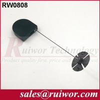 Quality 0.6 Mm Cable Diameter Display Security Tether With Sticky Flexible ABS Plate for sale