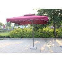 Quality Polyester Red Dyed Extra Large Patio Umbrella , Backyard Square Sun Umbrella Parasol for sale