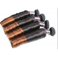 Quality Colored Ombre Indian Human Hair Weave Egg Curl No Any Bad Smell for sale