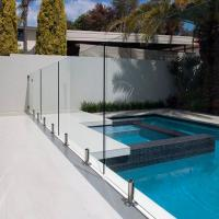 Quality Tempered Swimming Pool Glass Fence / Glass Railing / Glass Balustrade for sale